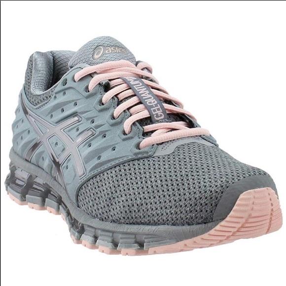 100% authentic 738e8 51a04 ASICS Gel Quantum 180 2 MX Running Shoe Grey/Pink NWT
